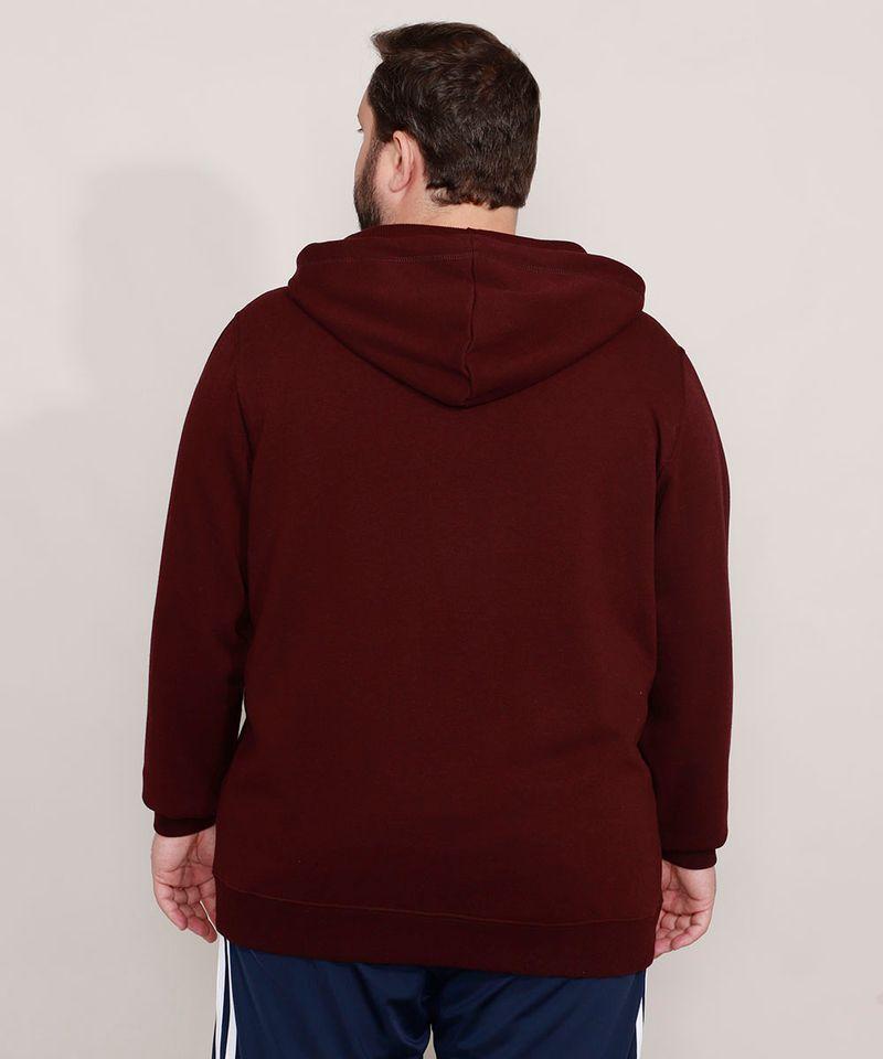 Blusao-de-Moletom-Plus-Size-Basico-com-Capuz-e-Bolsos-Vinho-9973144-Vinho_2
