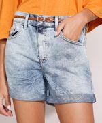 Short-Midi-Jeans-Marmorizado-com-Barra-Dobrada-e-Cinto-Cintura-Media-Azul-Claro-9992282-Azul_Claro_1