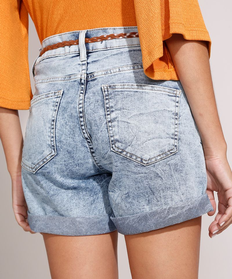Short-Midi-Jeans-Marmorizado-com-Barra-Dobrada-e-Cinto-Cintura-Media-Azul-Claro-9992282-Azul_Claro_2