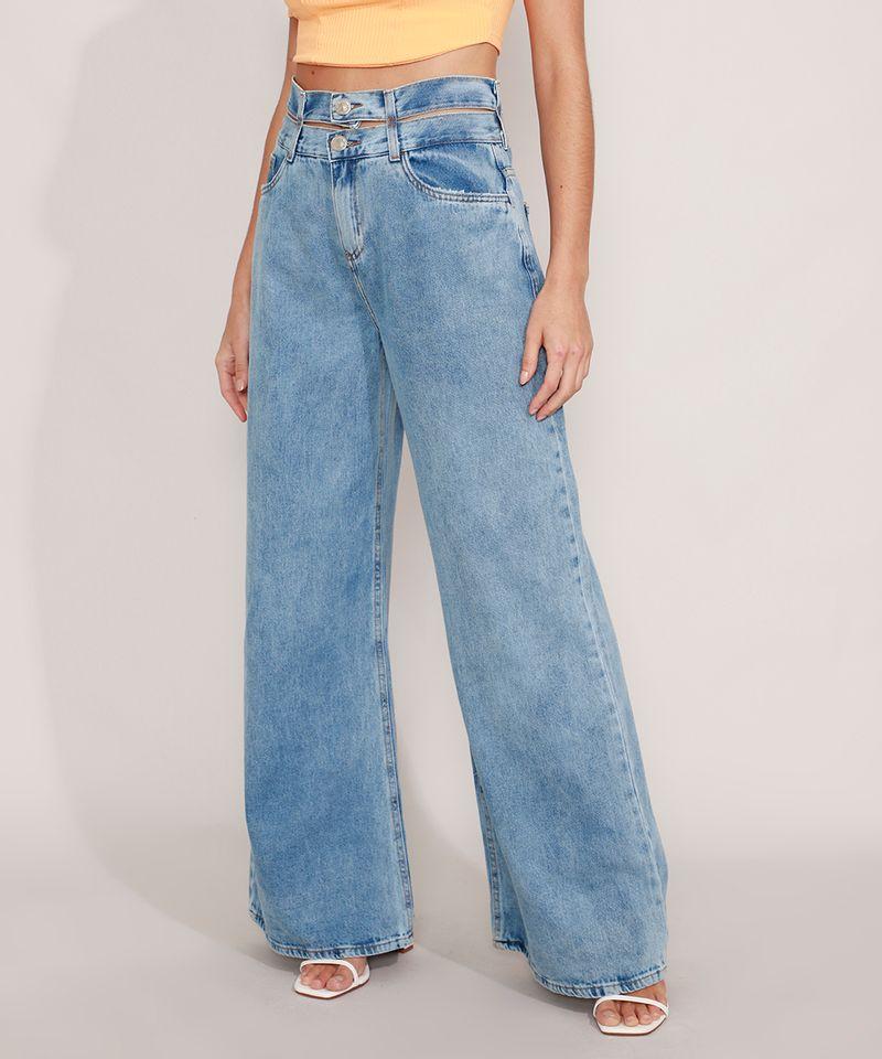 Calca-Wide-Jeans-Cintura-Super-Alta-com-Cos-Duplo-Azul-Medio-9985478-Azul_Medio_1