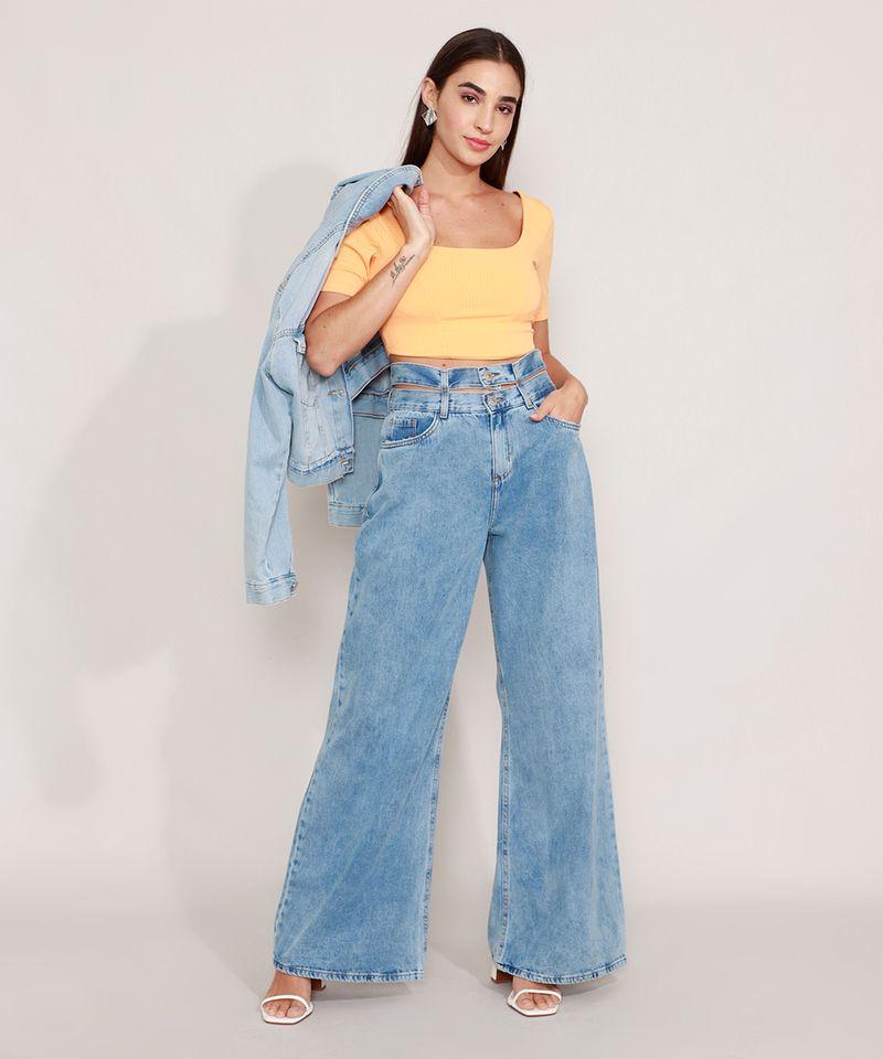 Calca-Wide-Jeans-Cintura-Super-Alta-com-Cos-Duplo-Azul-Medio-9985478-Azul_Medio_3