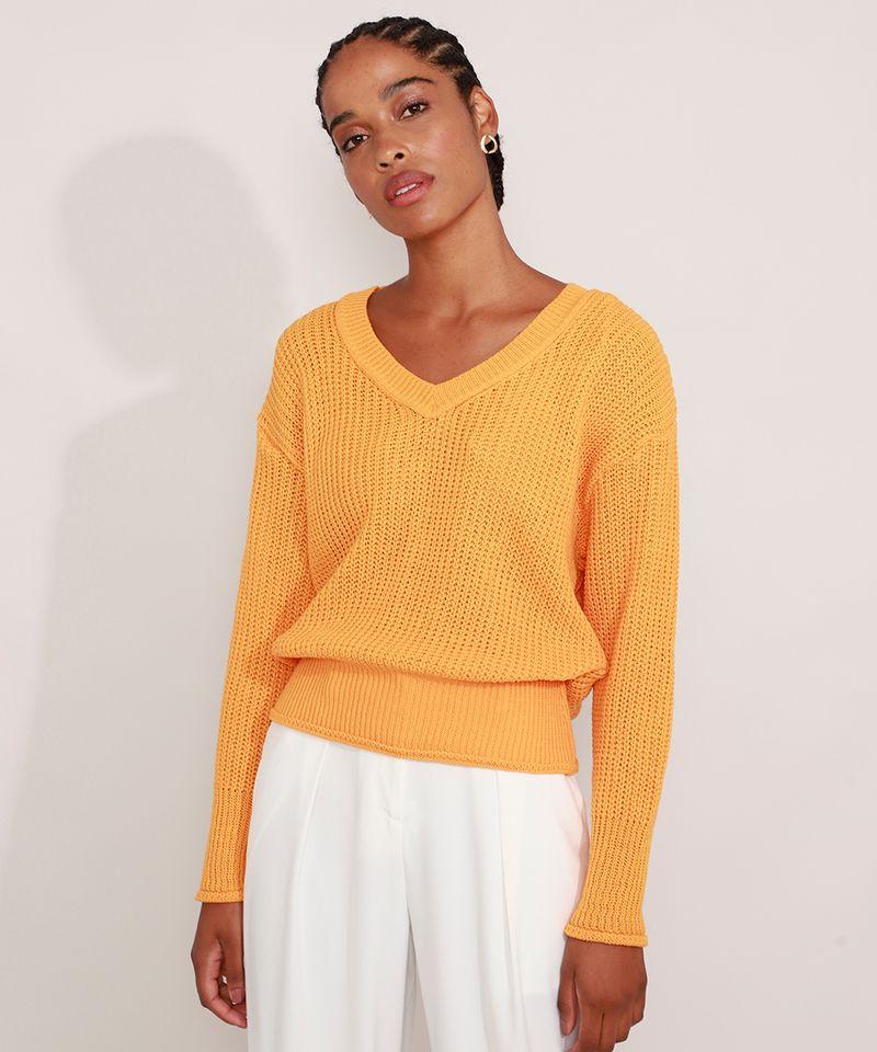 Sueter-de-Trico-Decote-V-Amarelo-9981686-Amarelo_1