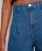 Bermuda-Jeans-Cintura-Super-Alta-com-Prega-Azul-Escuro-9991272-Azul_Escuro_4