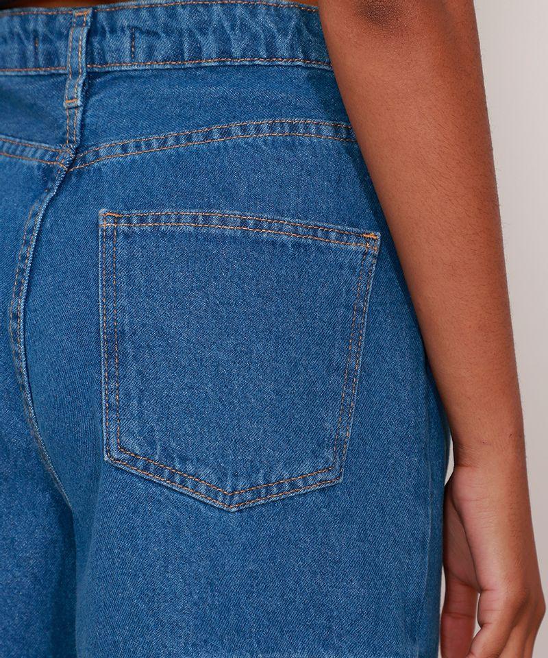 Bermuda-Jeans-Cintura-Super-Alta-com-Prega-Azul-Escuro-9991272-Azul_Escuro_5