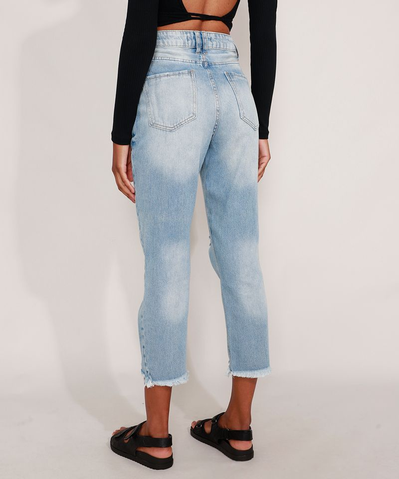 Calca-Mom-Jeans-Cropped-Destroyed-Cintura-Super-Alta-Azul-Claro-9991633-Azul_Claro_2