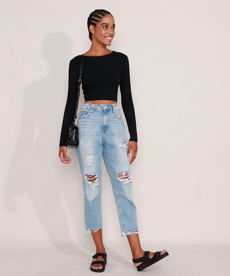 Calca-Mom-Jeans-Cropped-Destroyed-Cintura-Super-Alta-Azul-Claro-9991633-Azul_Claro_3