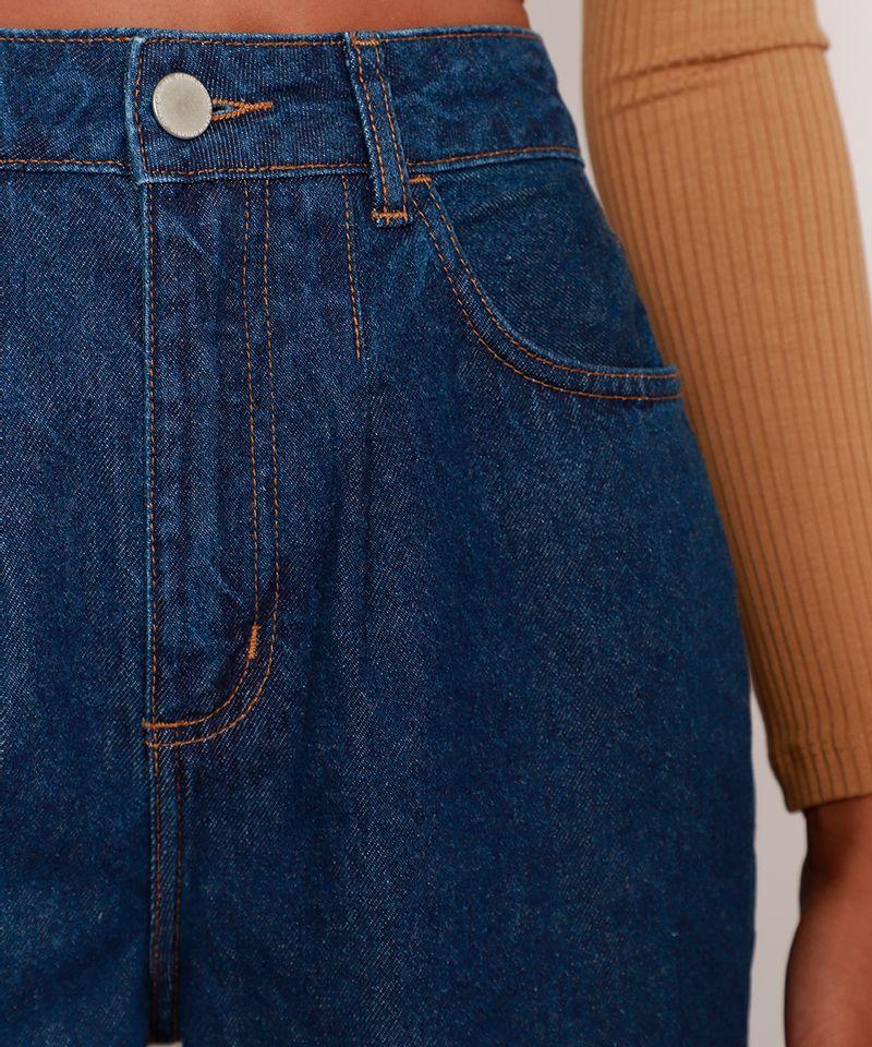 Calca-Wide-Pantalona-Jeans-com-Pences-e-Barra-a-Fio-Cintura-Super-Alta-Azul-Escuro-9992130-Azul_Escuro_6