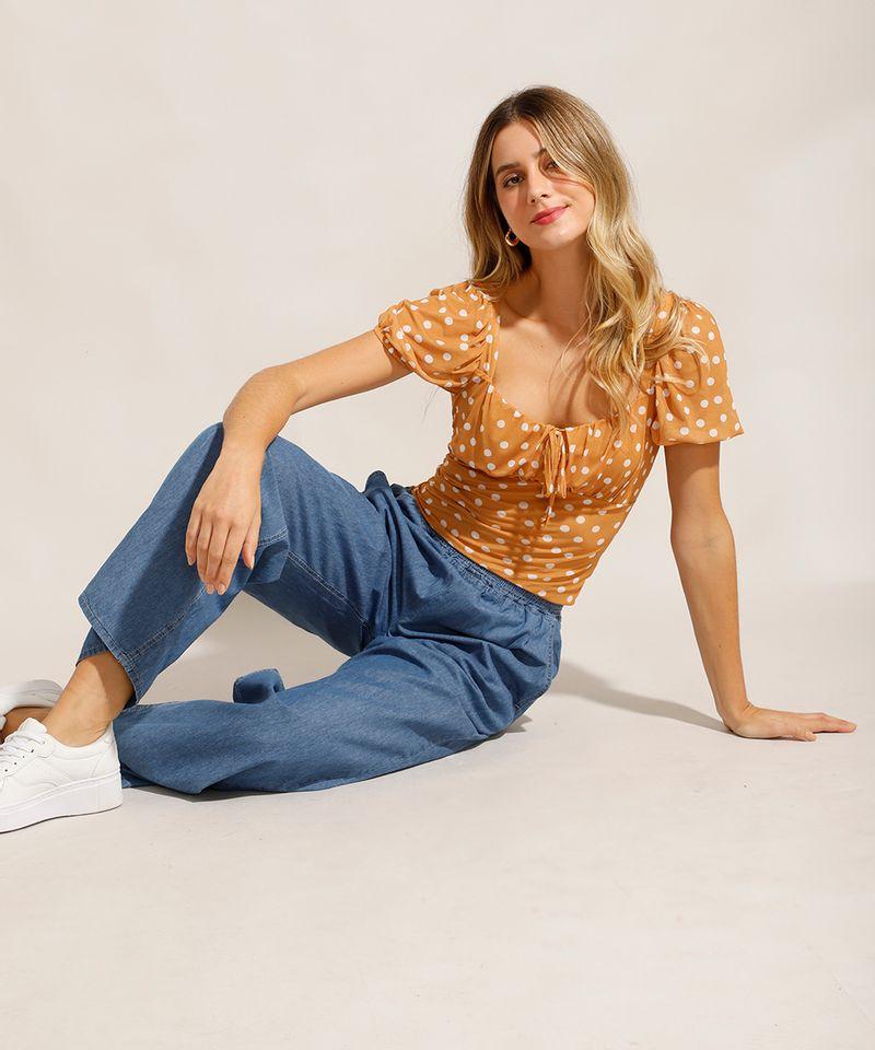 Calca-Jeans-Feminina-Pantalona-Wide-Clochard-Cintura-Alta-Alfaiatada-Azul-Medio-9985076-Azul_Medio_4