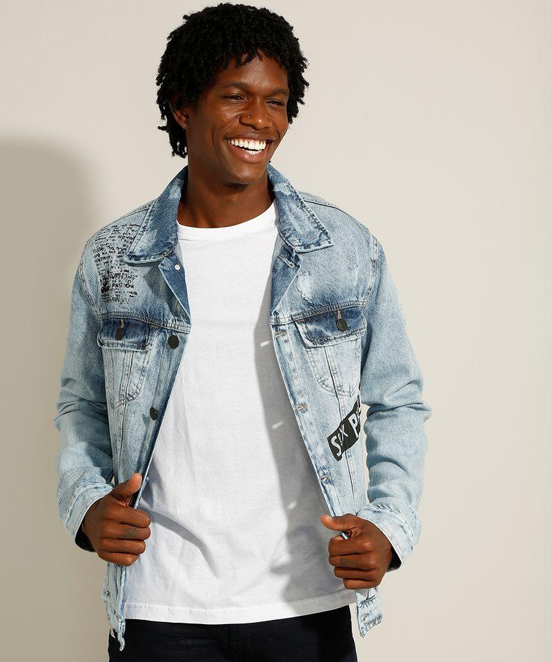 Jaqueta-Trucker-Jeans-Marmorizada-da-Banda-Sex-Pistols-com-Bolsos-e-Puidos-Azul-Claro-9982016-Azul_Claro_4
