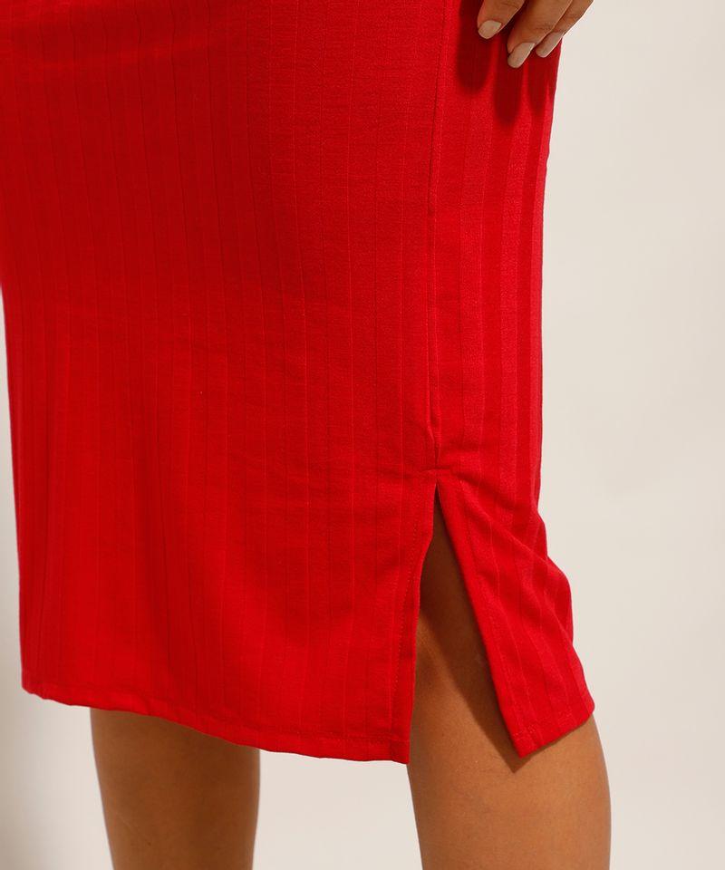 Vestido-Canelado-Basico-com-Fendas-Midi-Alca-Larga-Vermelho-9987673-Vermelho_5