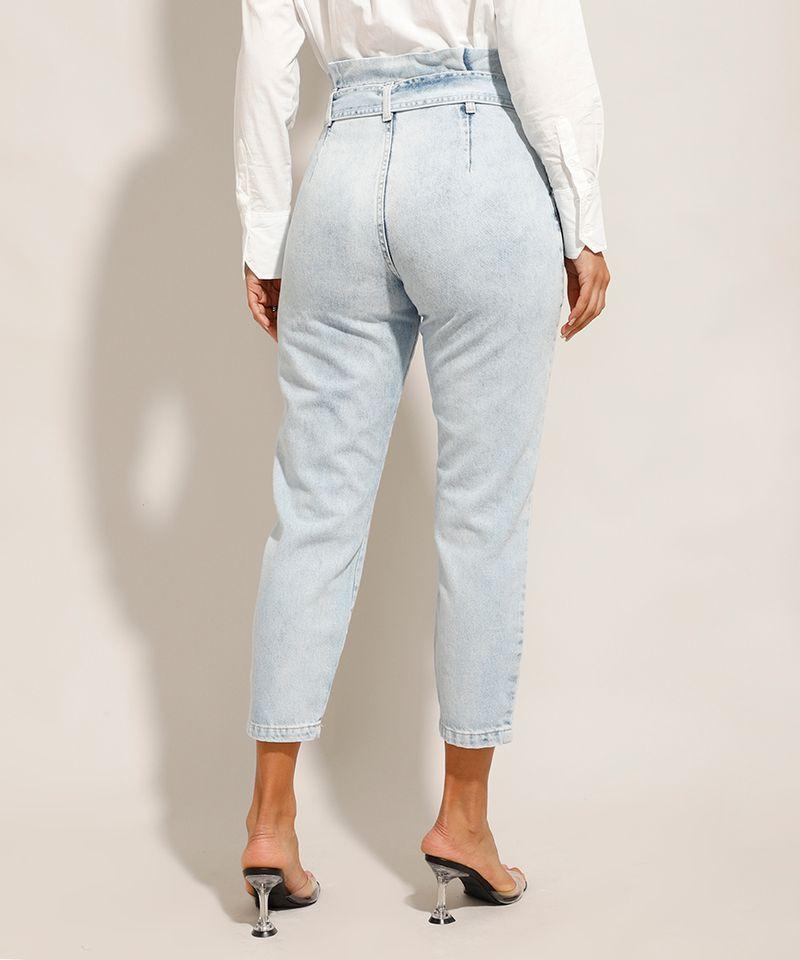 Calca-Tal-Mae-Tal-Filha-Clochard-Jeans-Cintura-Super-Alta-com-Faixa-Para-Amarrar-Azul-Claro-9992008-Azul_Claro_2