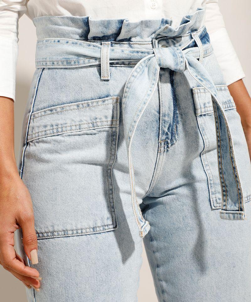 Calca-Tal-Mae-Tal-Filha-Clochard-Jeans-Cintura-Super-Alta-com-Faixa-Para-Amarrar-Azul-Claro-9992008-Azul_Claro_4