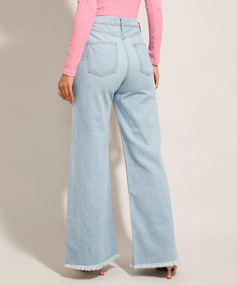 Calca-Jeans-Feminina-Wide-Pantalona-Cintura-Super-Alta-com-Vazado-Azul-Claro-9984566-Azul_Claro_2