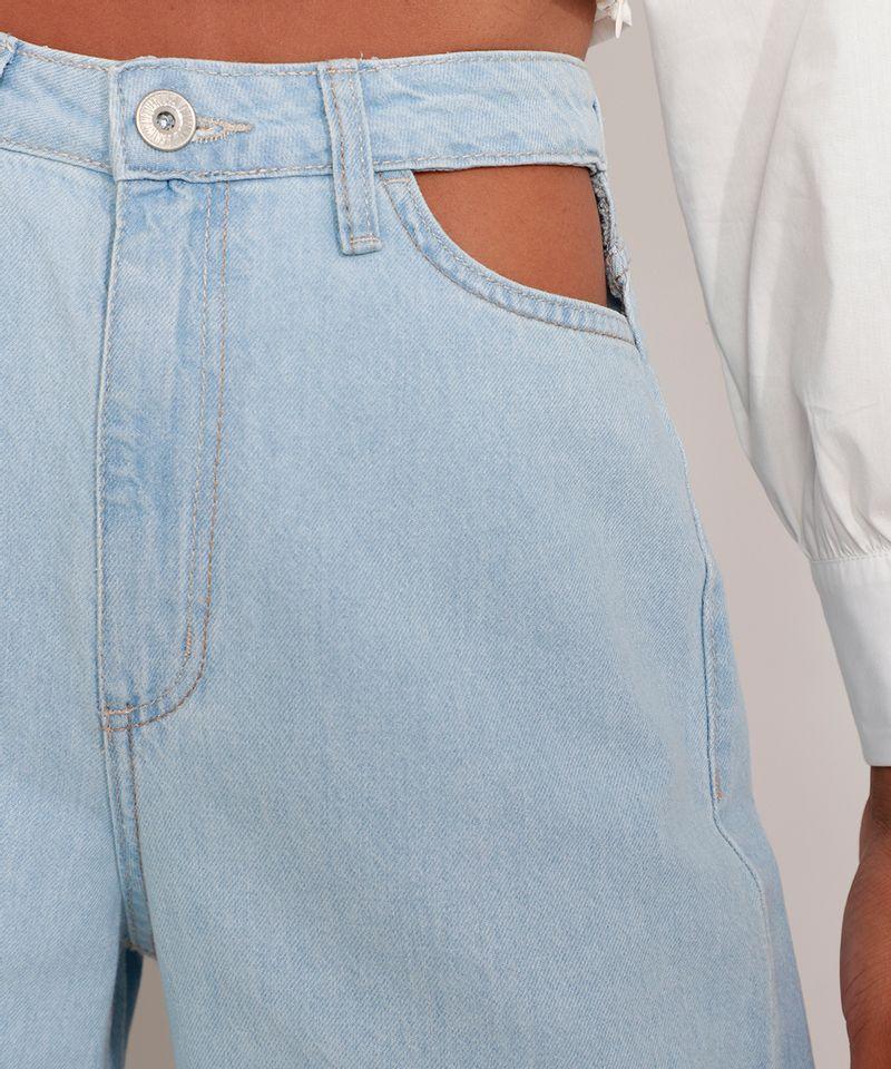 Calca-Jeans-Feminina-Wide-Pantalona-Cintura-Super-Alta-com-Vazado-Azul-Claro-9984566-Azul_Claro_6
