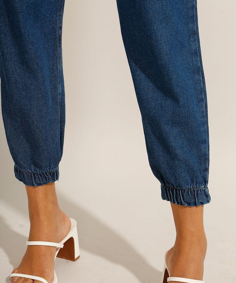 Calca-Jogger-Clochard-Jeans-com-Faixa-para-Amarrar-Cintura-Super-Alta-Azul-Escuro-9991101-Azul_Escuro_4