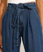Calca-Jogger-Clochard-Jeans-com-Faixa-para-Amarrar-Cintura-Super-Alta-Azul-Escuro-9991101-Azul_Escuro_5