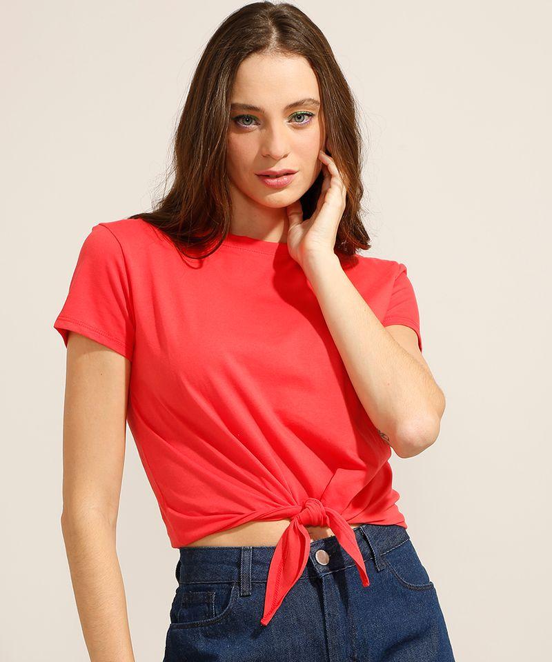 Camiseta-Cropped-de-Algodao-Basica-com-No-Manga-Curta-Decote-Redondo-Vermelha-9990323-Vermelho_1
