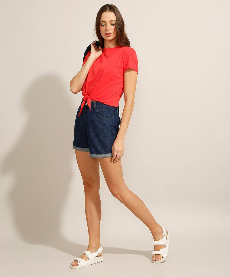 Camiseta-Cropped-de-Algodao-Basica-com-No-Manga-Curta-Decote-Redondo-Vermelha-9990323-Vermelho_3