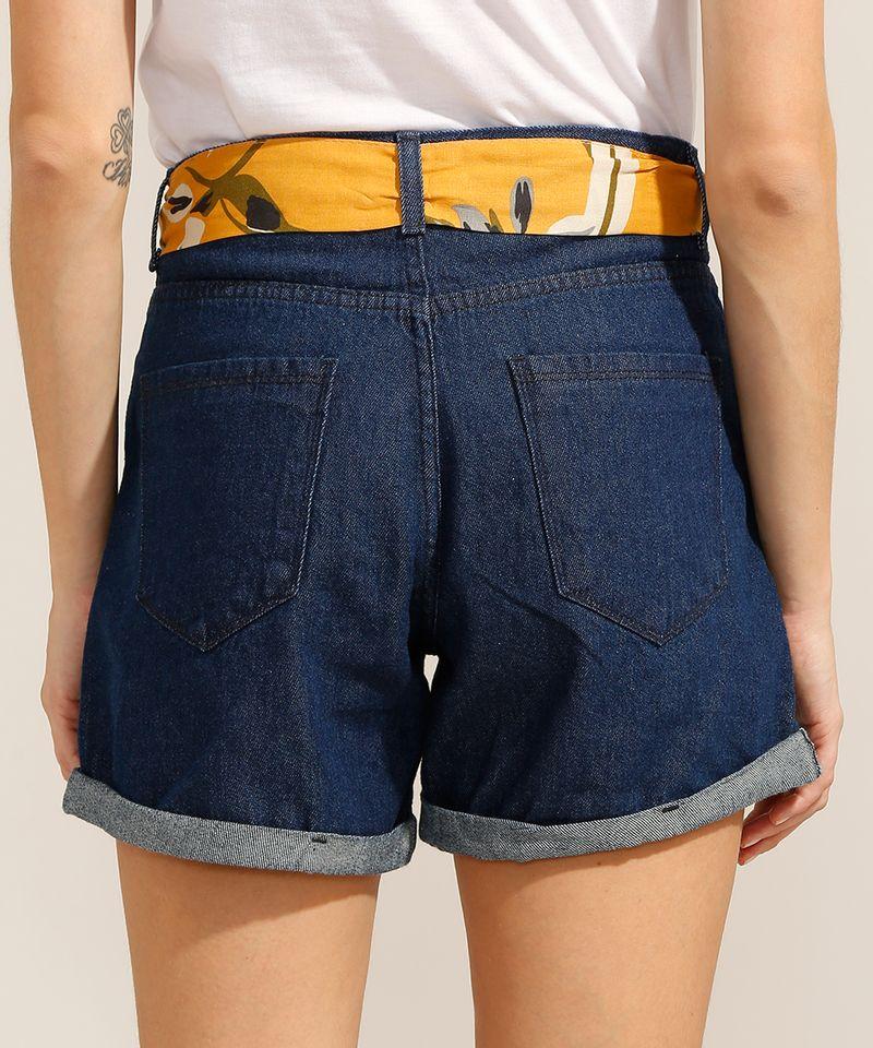 Short-Midi-Jeans-com-Barra-Dobrada-e-Faixa-para-Amarrar-Cintura-Media-Azul-Escuro-9991797-Azul_Escuro_2