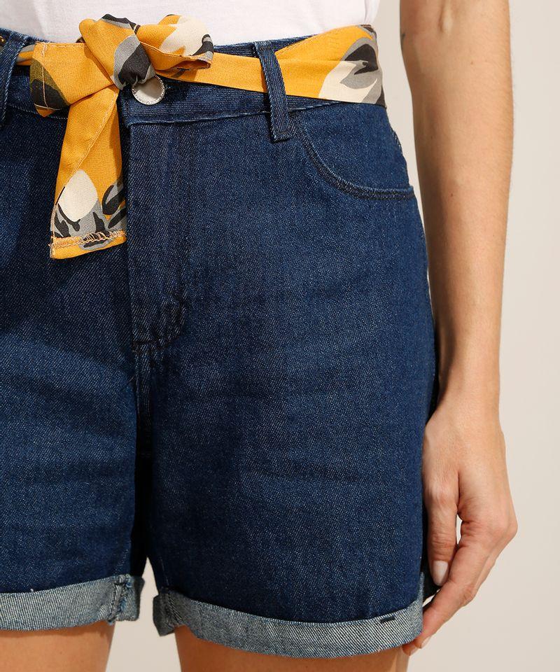 Short-Midi-Jeans-com-Barra-Dobrada-e-Faixa-para-Amarrar-Cintura-Media-Azul-Escuro-9991797-Azul_Escuro_4