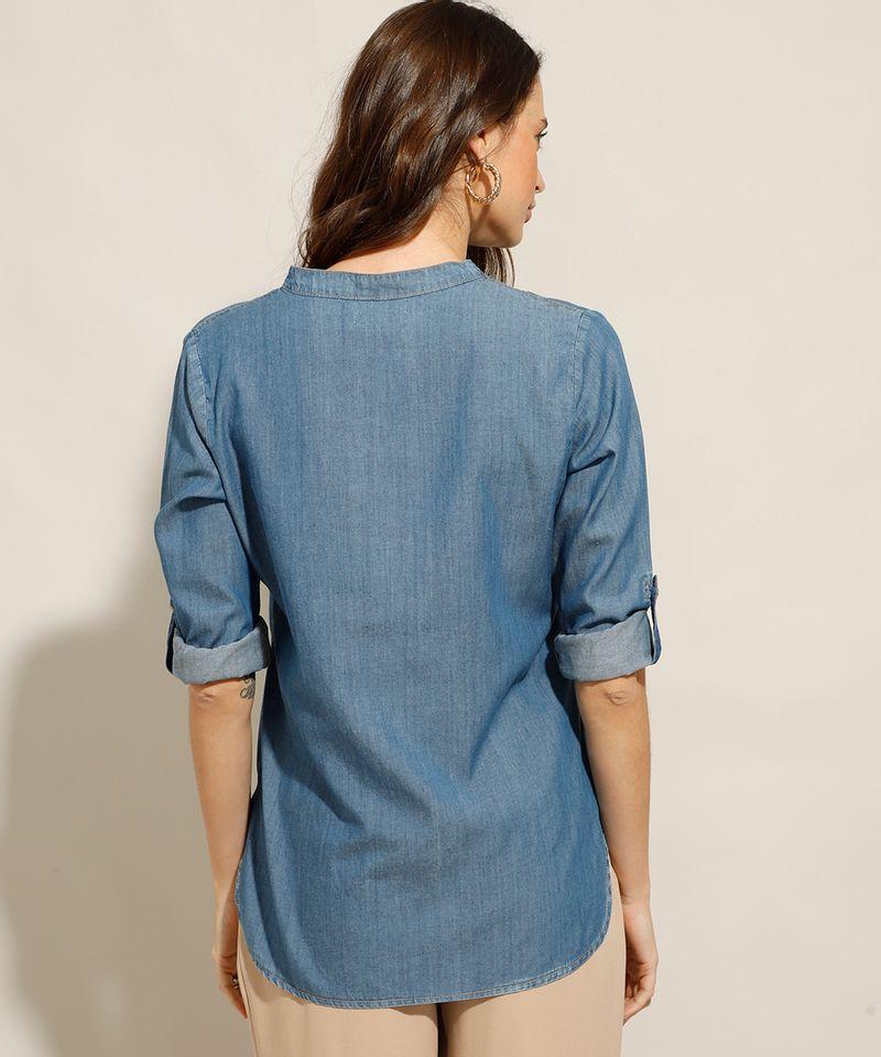Camisa-Jeans-com-Bolsos-Manga-Longa-Azul-Medio-9993154-Azul_Medio_2