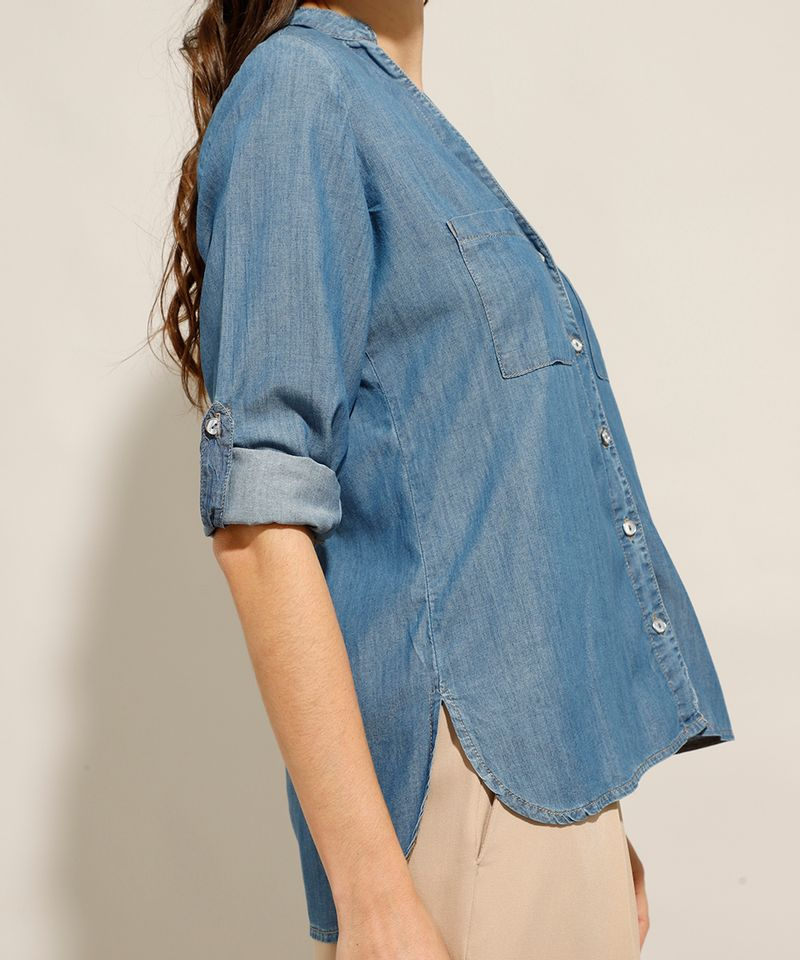 Camisa-Jeans-com-Bolsos-Manga-Longa-Azul-Medio-9993154-Azul_Medio_5