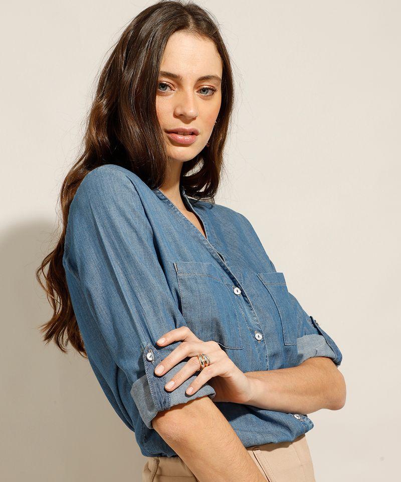 Camisa-Jeans-com-Bolsos-Manga-Longa-Azul-Medio-9993154-Azul_Medio_6