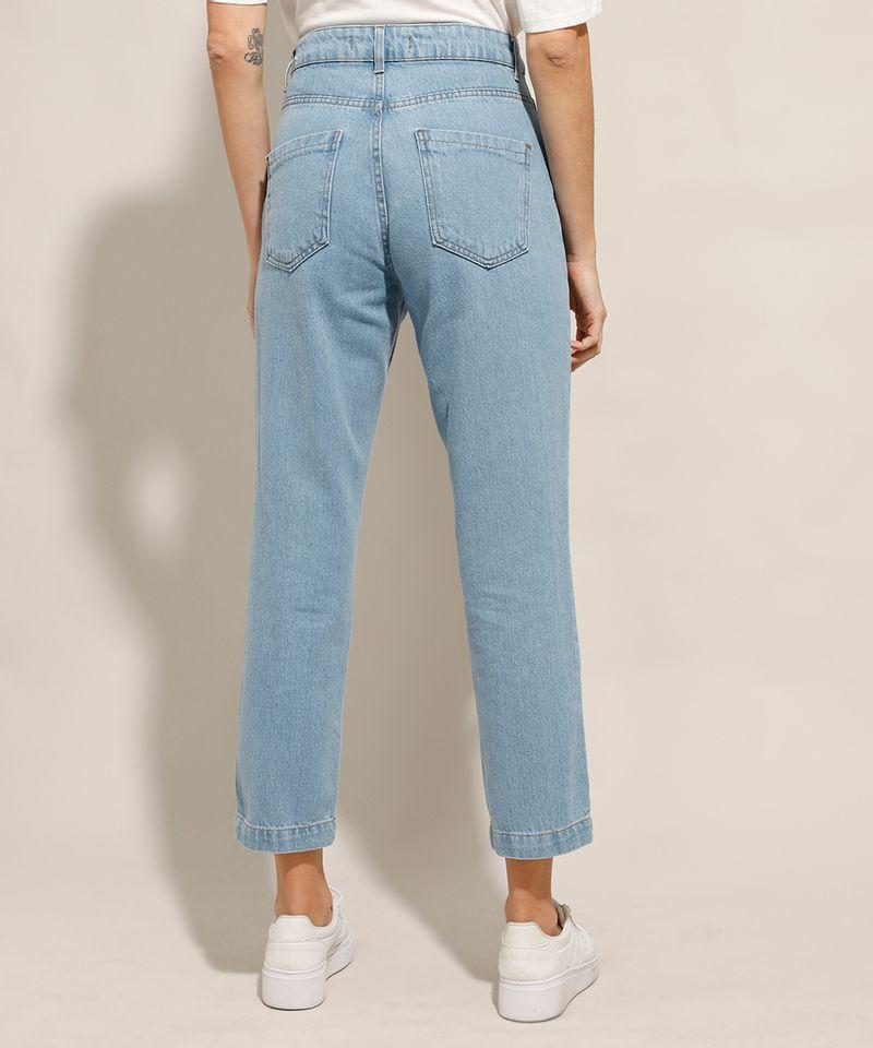 Calca-Jeans-Reta-Cintura-Super-Alta-com-Botoes-Azul-Claro-9991274-Azul_Claro_2