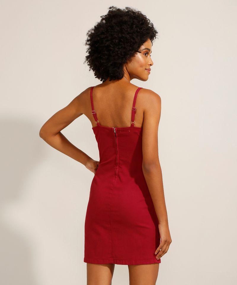 Vestido-de-Sarja-Curto-com-Pences-Alca-Fina-Decote-Reto-Vermelho-9991482-Vermelho_2