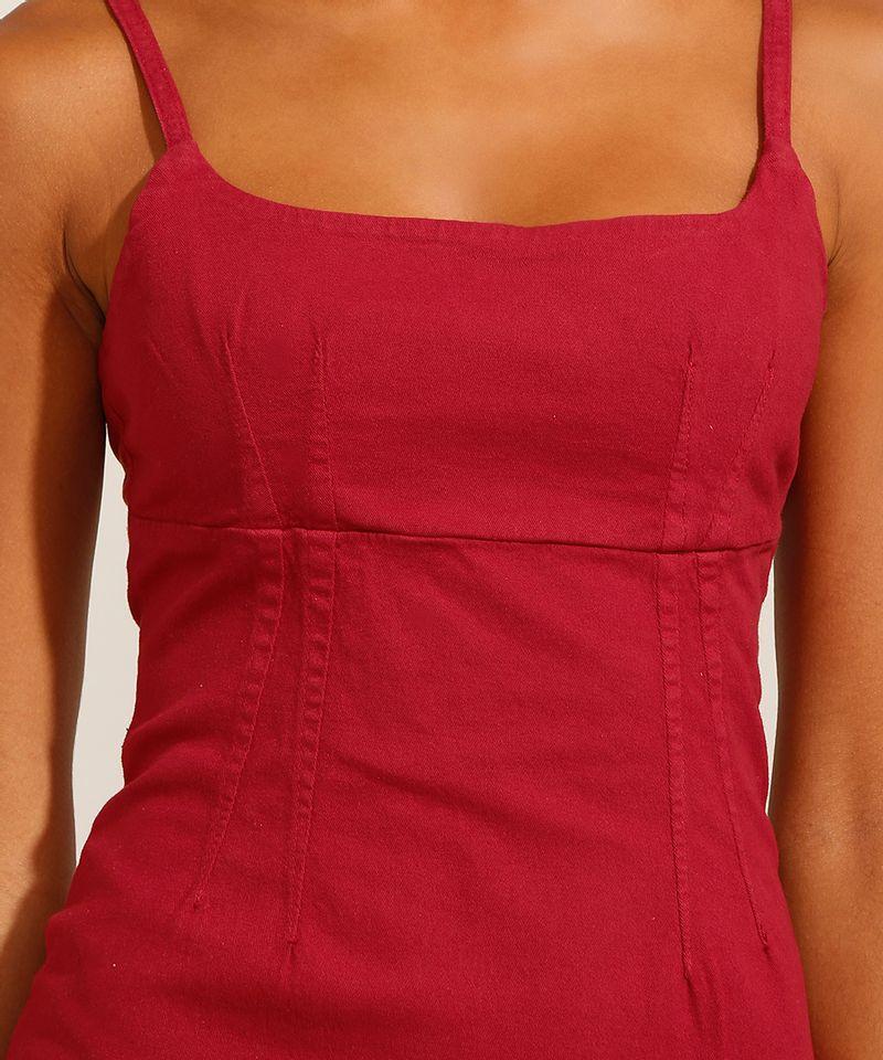 Vestido-de-Sarja-Curto-com-Pences-Alca-Fina-Decote-Reto-Vermelho-9991482-Vermelho_4