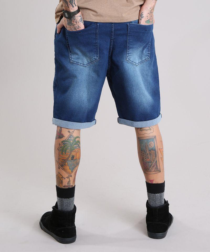 Bermuda-Jeans-Masculina-Reta-com-Cordao-Azul-Escuro-8766323-Azul_Escuro_2