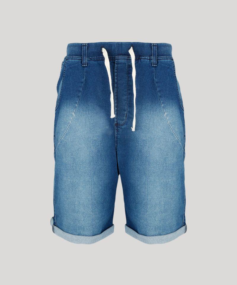 Bermuda-Jeans-Masculina-Reta-com-Cordao-Azul-Escuro-8766323-Azul_Escuro_5