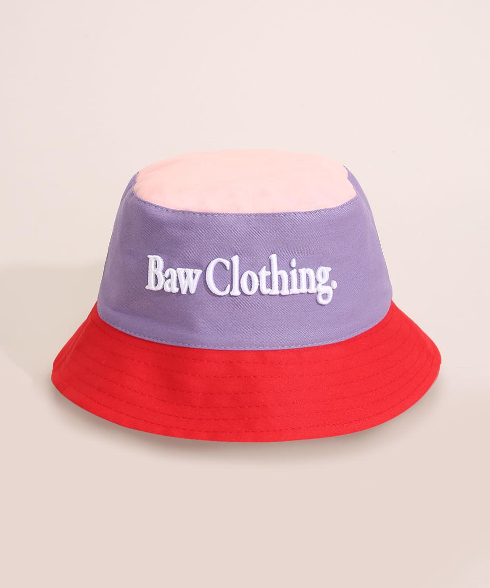 <em>Bucket hat</em> juvenil dupla face multicor, da Baw Clothing