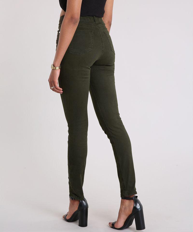 Calca-de-Sarja-Super-Skinny-Cintura-Alta-Verde-Militar-9042390-Verde_Militar_2