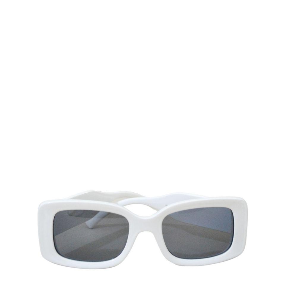óculos de sol feminino daia branco retangular quadrado