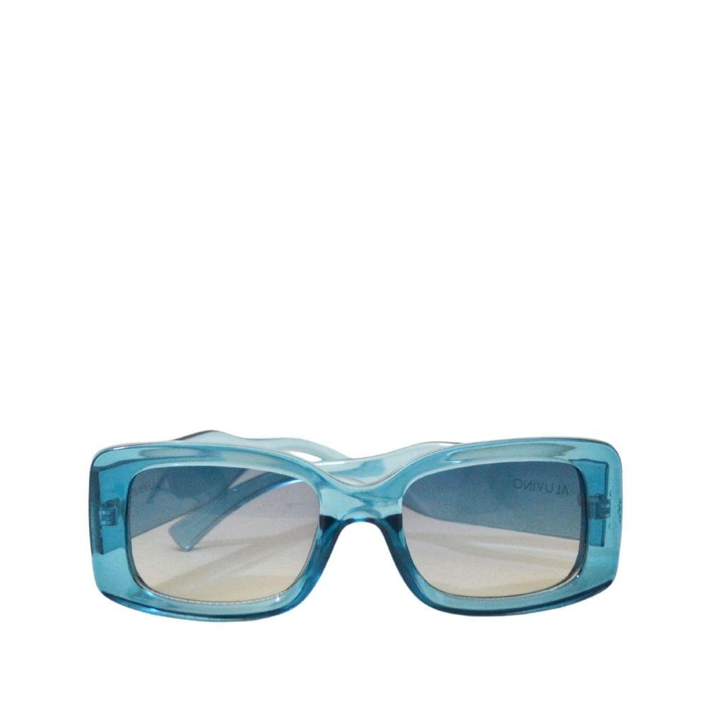 óculos de sol feminino daia azul retangular quadrado
