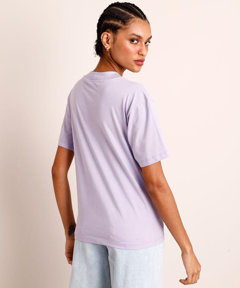 Camiseta-de-Algodao-Manga-Curta-Decote-Redondo--Lilas-1005784-Lilas_2