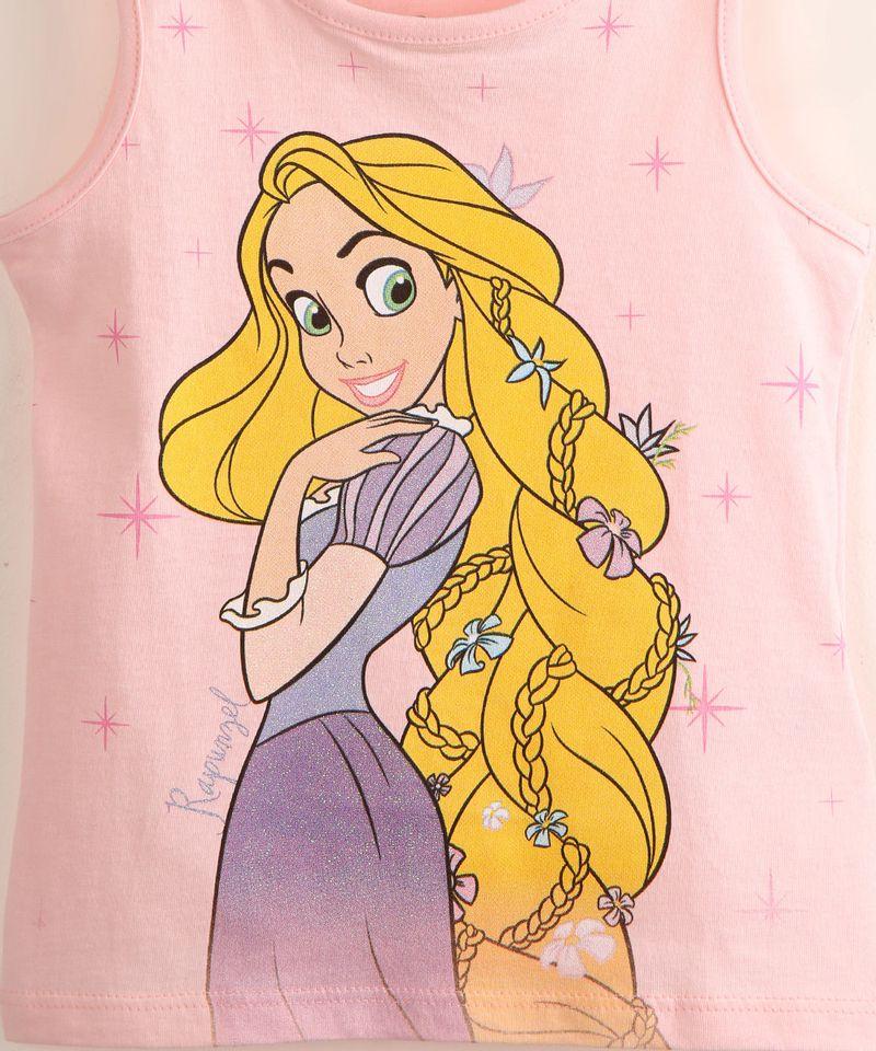 Regata-Infantil-de-Algodao-Rapunzel-com-Glitter-Rosa-Claro-9995305-Rosa_Claro_2