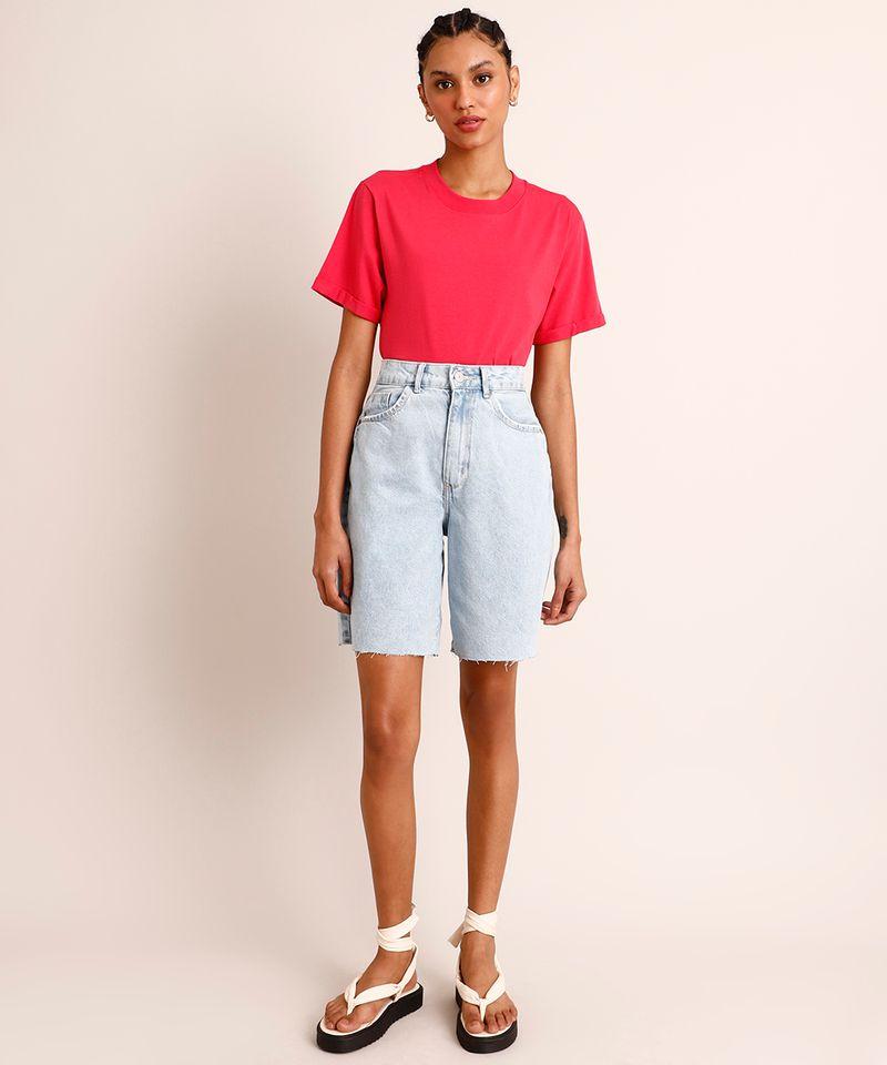 Camiseta-de-Algodao-Basica-Manga-Curta-Decote-Redondo--Pink-9980091-Pink_3
