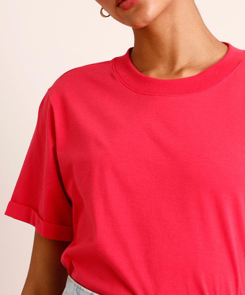 Camiseta-de-Algodao-Basica-Manga-Curta-Decote-Redondo--Pink-9980091-Pink_4