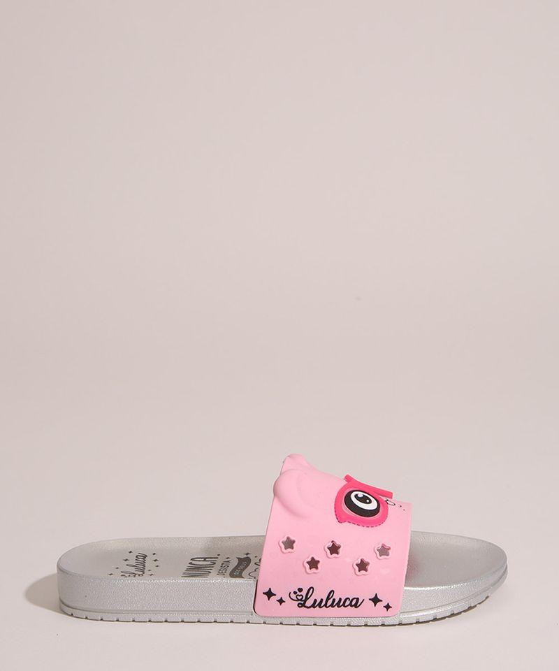 Chinelo-Slide-Infantil-Luluca-Panda-com-Oculos-Grendene-Rosa-1006706-Rosa_1