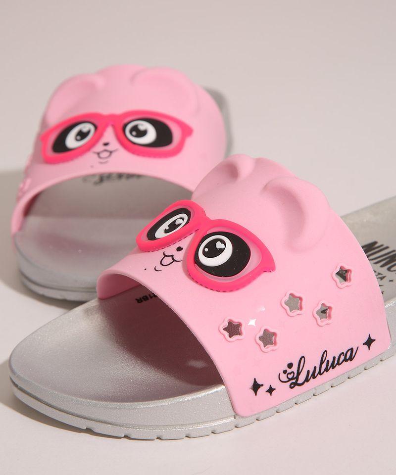 Chinelo-Slide-Infantil-Luluca-Panda-com-Oculos-Grendene-Rosa-1006706-Rosa_2