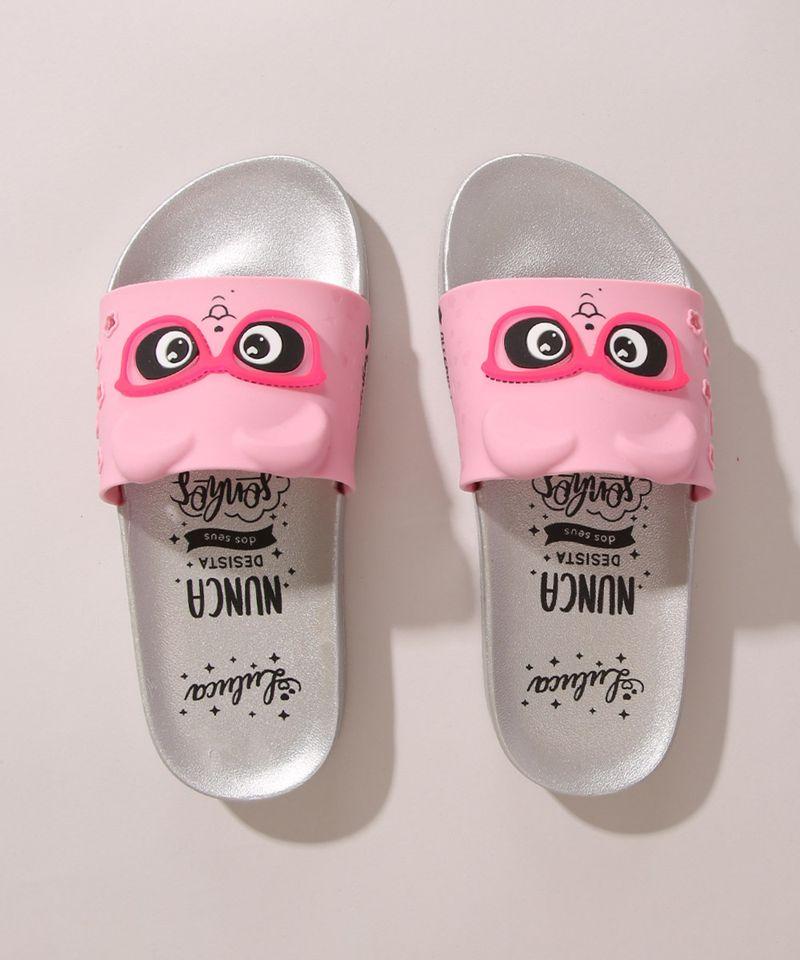 Chinelo-Slide-Infantil-Luluca-Panda-com-Oculos-Grendene-Rosa-1006706-Rosa_4