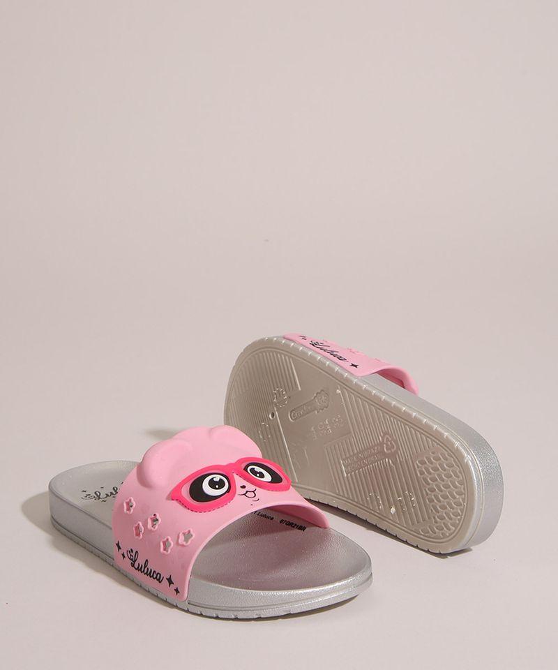 Chinelo-Slide-Infantil-Luluca-Panda-com-Oculos-Grendene-Rosa-1006706-Rosa_5