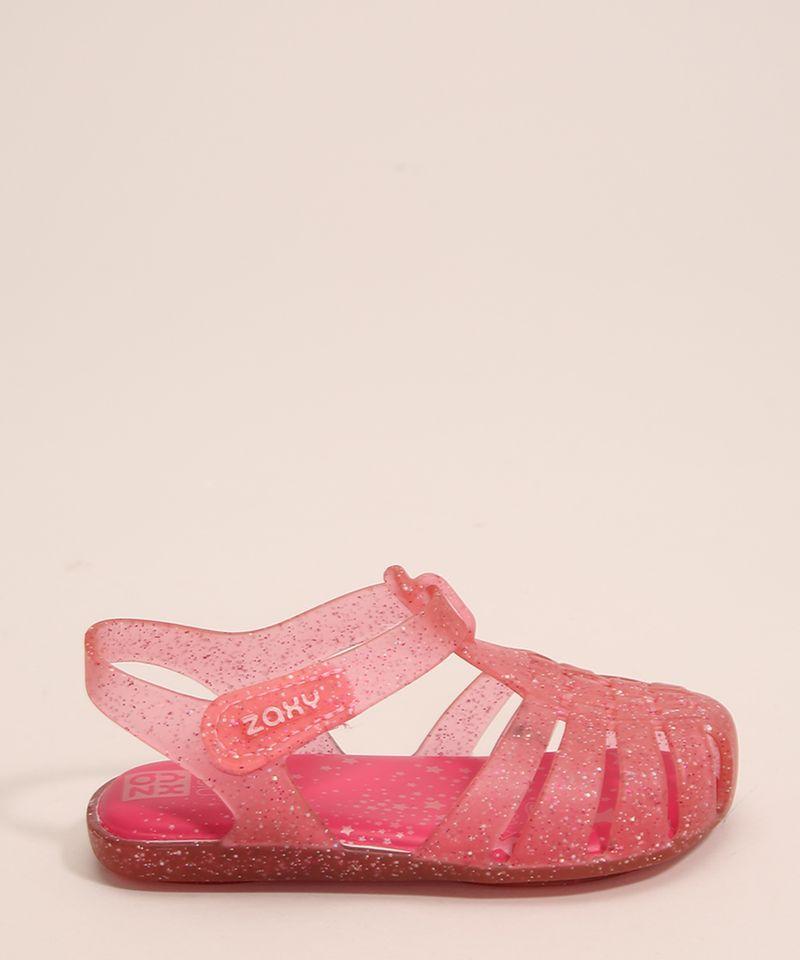 Sandalia-Infantil-Zaxynina-Encantada-com-Glitter-e-Velcro-Grendene-Rosa-1007245-Rosa_1