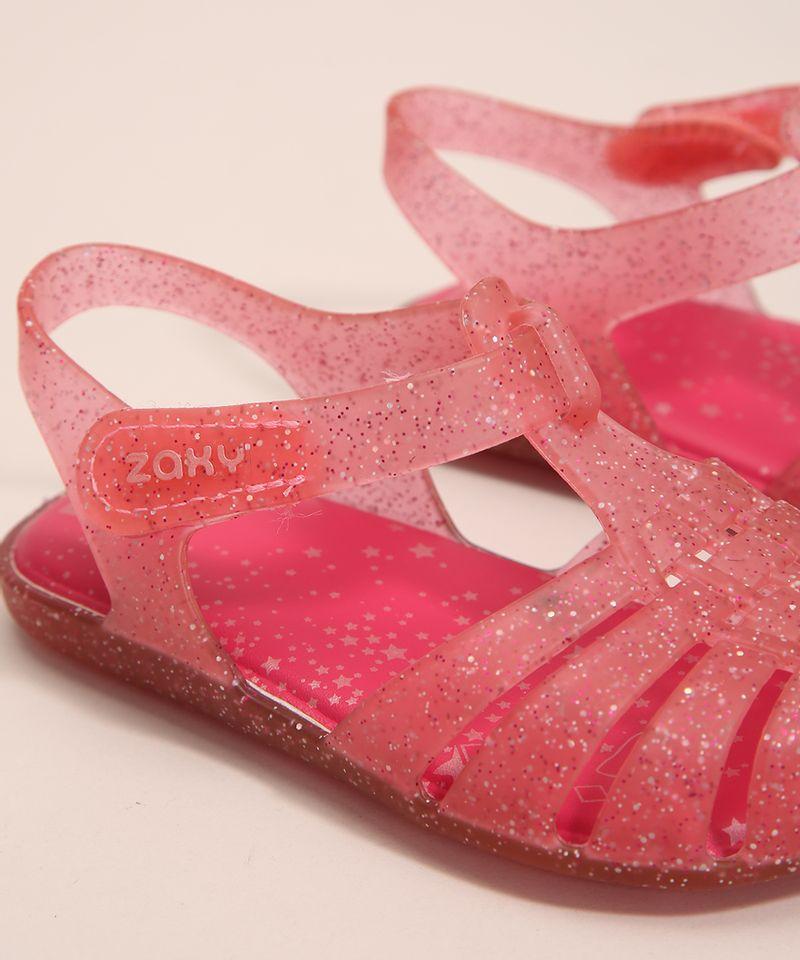 Sandalia-Infantil-Zaxynina-Encantada-com-Glitter-e-Velcro-Grendene-Rosa-1007245-Rosa_3