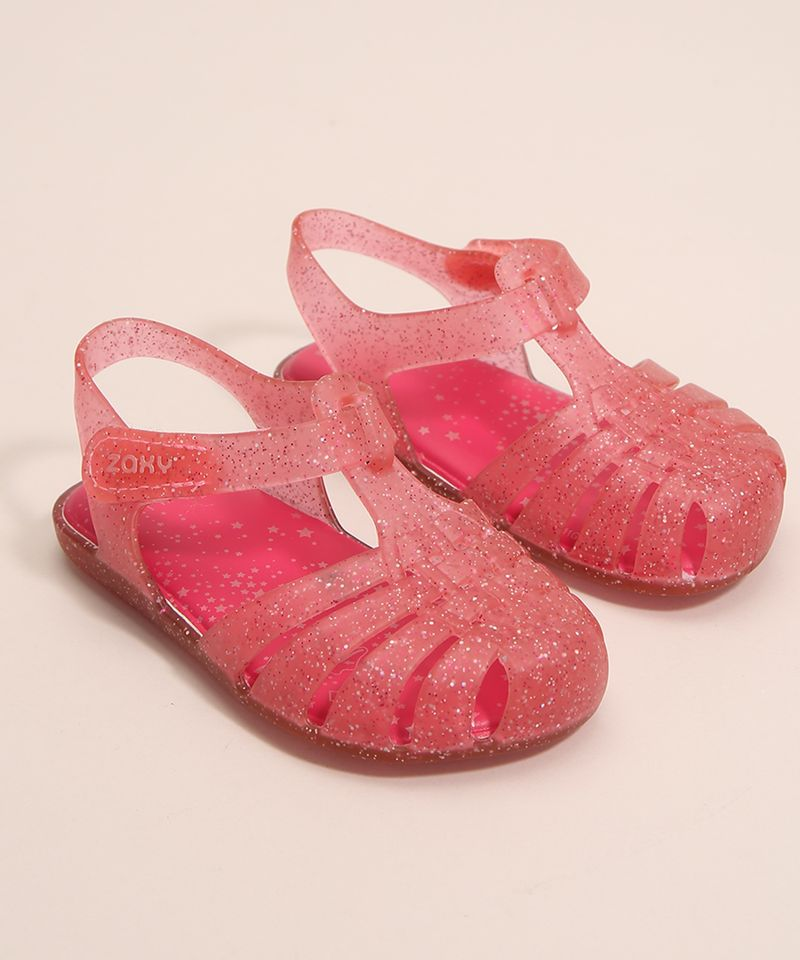 Sandalia-Infantil-Zaxynina-Encantada-com-Glitter-e-Velcro-Grendene-Rosa-1007245-Rosa_4