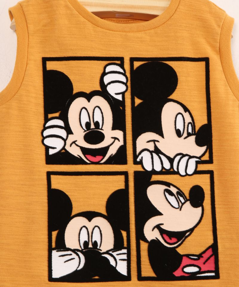 Regata-Infantil-de-Algodao-Mickey-Mouse-Mostarda-9994645-Mostarda_2