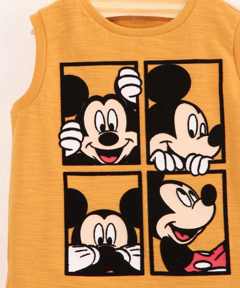 Regata-Infantil-de-Algodao-Mickey-Mouse-Mostarda-9994645-Mostarda_4