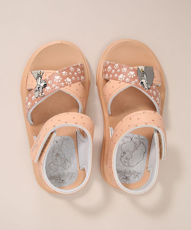 Sandalia-Infantil-A-Dama-e-o-Vagabundo-Grendene-com-Velcro-Rosa-Claro-1005811-Rosa_Claro_1